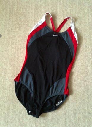 44р. сплошной купальник для плавания, бассейна speedo endurance большой бюст или рост1 фото