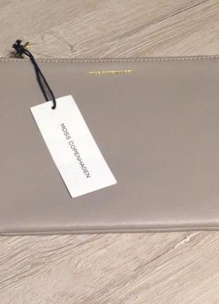 Стильный кожаный клатч moss copengahen (дания) #косметичка натуральная кожа