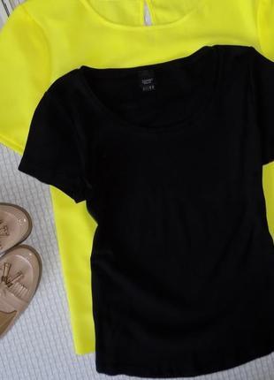 Черная базовая футболочка отменного качества
