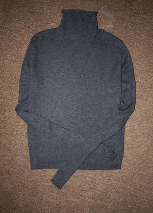 Серый базовый гольф  в мелкий рубчик3 фото