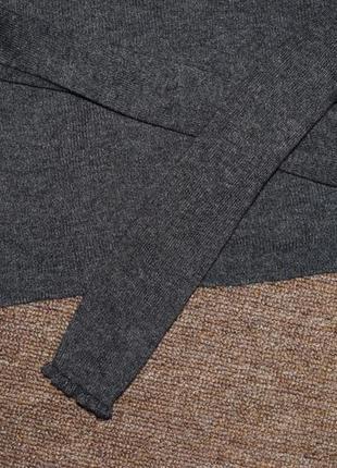 Серый базовый гольф  в мелкий рубчик4 фото