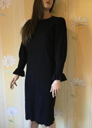 Платье трикотажное в рубчик лапша размер m3