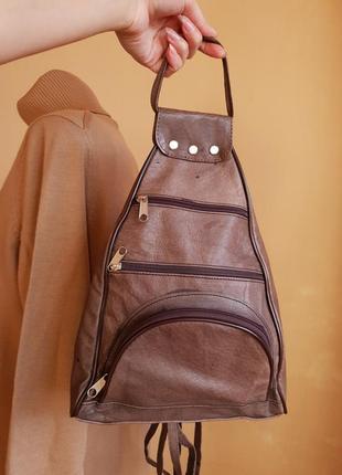 Стильный рюкзак нат. кожа с италии