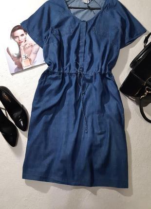 Стильное джинсовое платье. размер xxl3