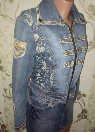 Джинсовая куртка, юбка джинс, пиджак, костюм