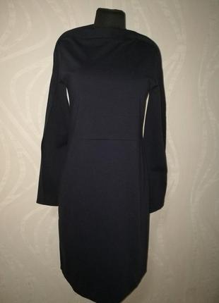 Стильное оригинальное платье миди из плотного трикотажа