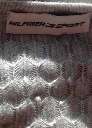 Вискозная длинная туника- свитер. m- l/ brend hilfiger sport5