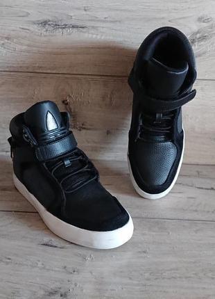 Высокие кроссовки адидас adidas adi-rise mid 42 р 8 р 27 см кожа замш баскетбол