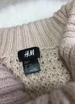 Розпродаж!!! теплий вязаний подовжений нюдовий світер з хомутом2