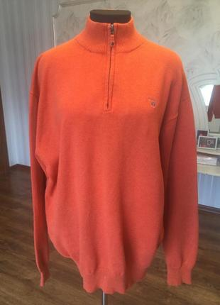 Шикарный натуральный  свитер большого размера 60-62.