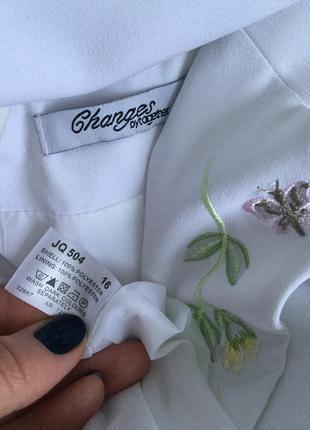 Красивый,белый жакет,пиджак с вышивкой,блейзер,большой размер,changes2