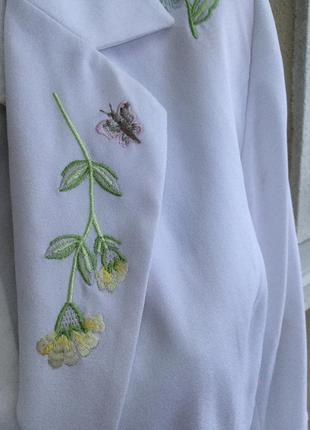 Красивый,белый жакет,пиджак с вышивкой,блейзер,большой размер,changes3
