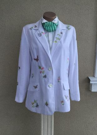 Красивый,белый жакет,пиджак с вышивкой,блейзер,большой размер,changes1