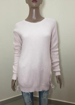 Розпродаж!!! теплий блідо рожевий світер зі шнуровкою по боках5 фото