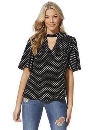 Красивая блуза в горох,   f&f