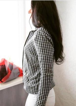 Пиджак приталенный в принт гусинная лапка2