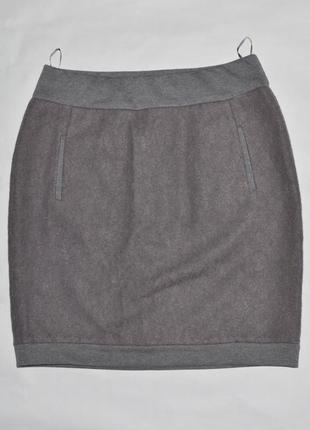Серая теплая юбка выше колен от jbc