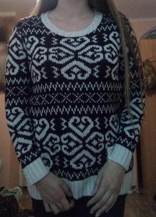 Теплый свитер кофта3