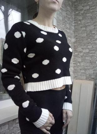 Теплый укороченный свитер кофта2