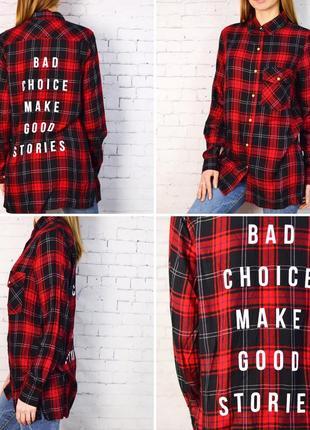 c400c6a8676 Женская красная клетчатая рубашка