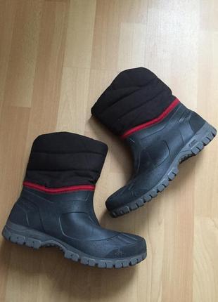 Резиновые термо сапоги ботинки quechua