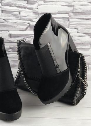 Женские кожаные ботильоны