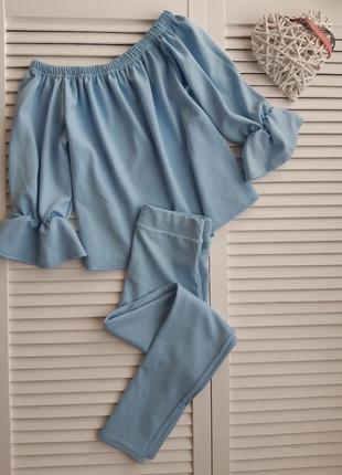 Голубой костюм glamour babe