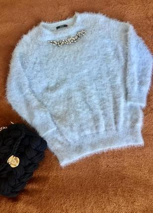 Теплый свитер/ травка/ оверсайз / dilvin