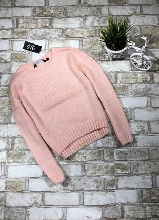 Уютный вязаный свитер, тёплый джемпер нежный1