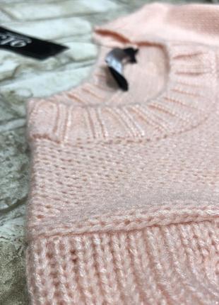 Уютный вязаный свитер, тёплый джемпер нежный4