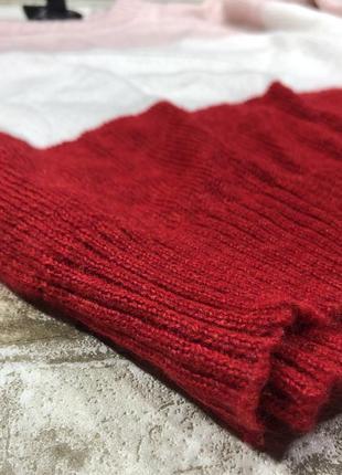 Стильный вязаный свитер тёплый, нежный джемпер полосатый3 фото