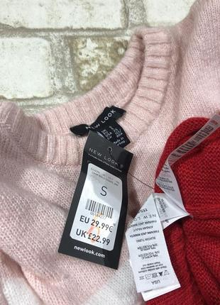 Стильный вязаный свитер тёплый, нежный джемпер полосатый4 фото