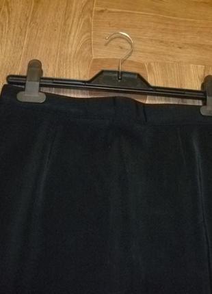 Черная трикотажная юбка-карандаш(узкая)миди women's collection весна-осень
