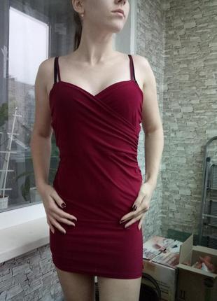 Платье нарядное вечернее на новый год мини по фигуре от boohoo4