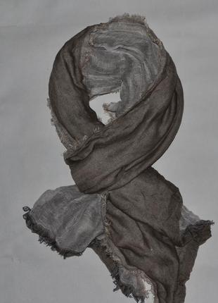 Двухсторонний шарф с мелкой бахромой по всему периметру от jbc
