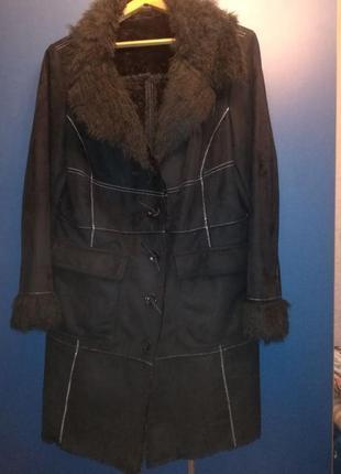 Пальто по типу дубленки из искусственного меха
