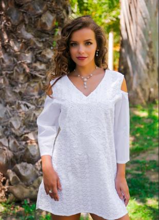 Пляжная туника из хлопка indiano, fresh-cotton 371 f, m-2xl