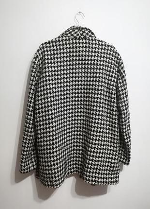 Шерстяной жакет пальто, принт гусиная лапка, премиум бренд jaclyn smith, xxxl3 фото