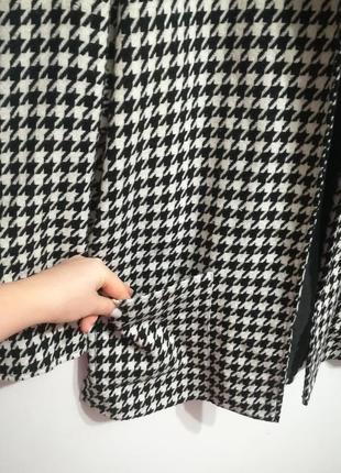 Шерстяной жакет пальто, принт гусиная лапка, премиум бренд jaclyn smith, xxxl5 фото