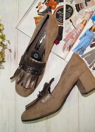 Tamaris. очень красивые туфли лоферы на широком каблучке1