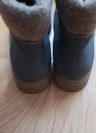 Новые фирменные утепленные шерстью ботинки 39р./26 см4 фото
