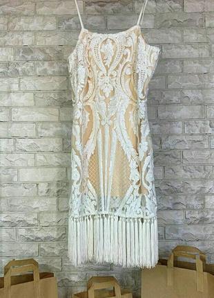 Платье в пайетках с кисточками in the style