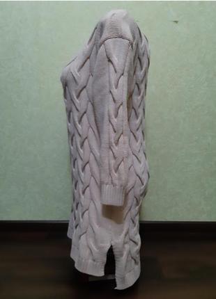Вязаное платье теплое4 фото