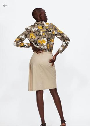 Красивая блуза zara с принтом красивых цветов2 фото