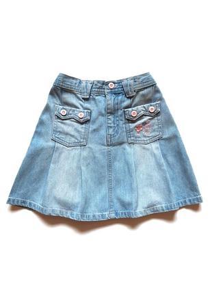 Джинсовая юбка на девочку 5-6 лет