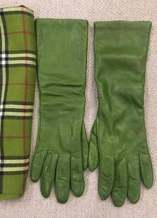 Перчатки кожаные зима женские