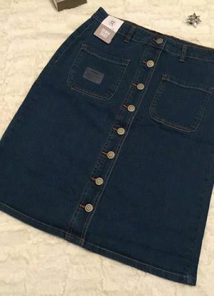 Стильные джинсовые юбки pepco
