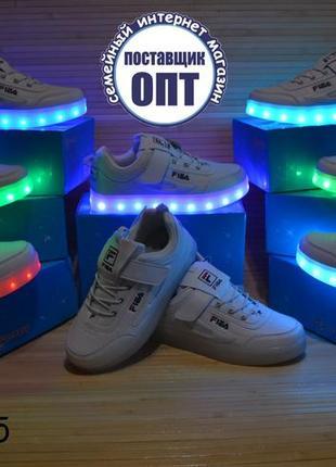 Детские светящиеся кроссовки с кабелем зарядки размеры 32 - 37 b76578f8aed47