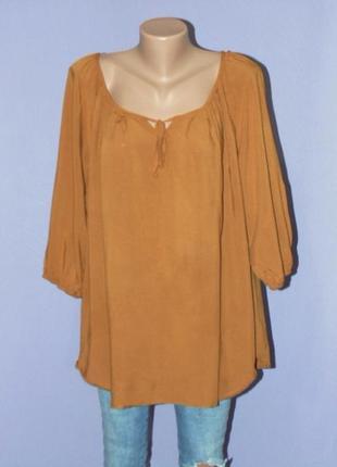 Горчичная блузочка 18 размера
