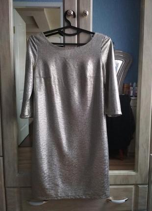 Супер платье 42,44,46,48. цвет платина.1 фото